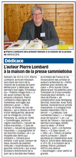 Article Pierre LOMBARD 2014 05 16