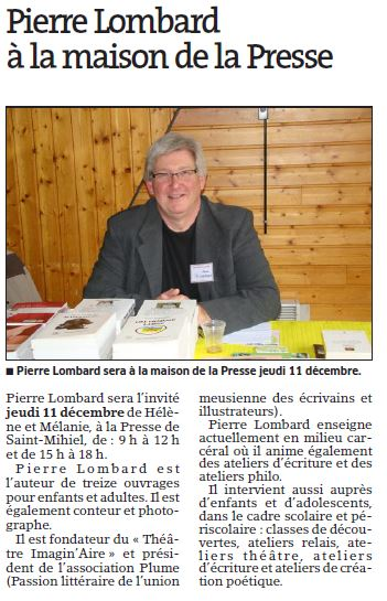 Article Pierre Maison de la Presse 2014 12 10