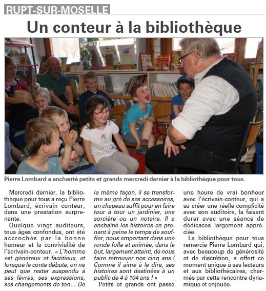 Article Vosges Matin 2015 05 02