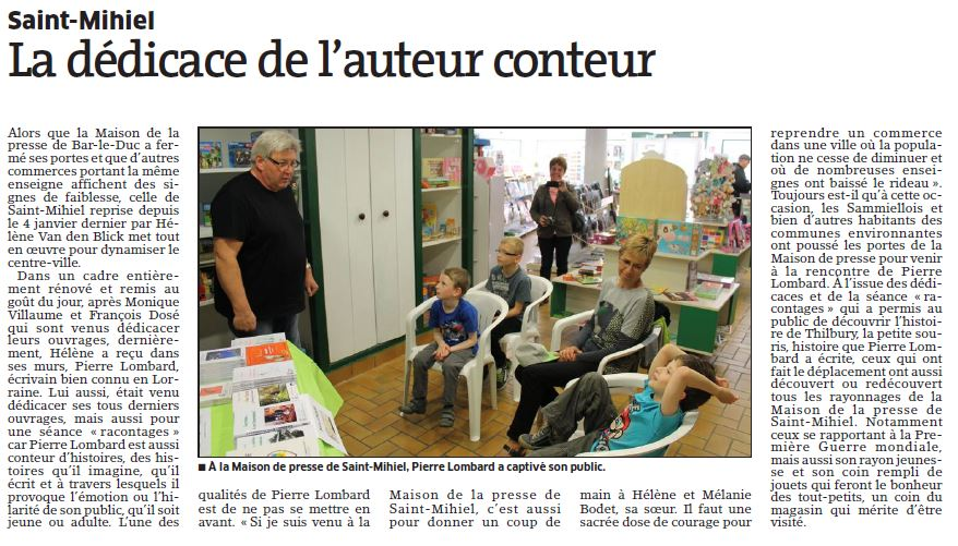 Article dédicace Saint Mihiel 2014 05 26